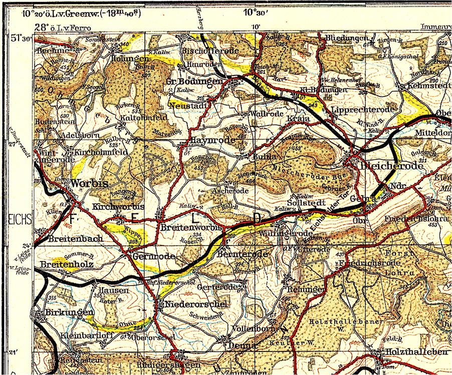 Historische Topographische Karten 1 200 000