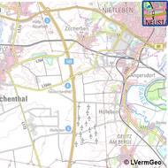 Topographische Karte 1:100 000