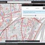 Bildschirmausschnitt vom Geodatendienst Bodenrichtwerte