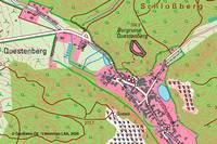 Kartenausschnitt der DTK10 4532-NO Bennungen