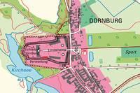 Kartenausschnitt der DTK10 3937-SW Dornburg