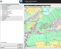 Geodatendienst Liegenschaftskataster Bildschirmansicht