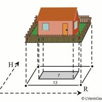 Darstellung von Flurstück und Gebäude in der Liegenschaftskarte