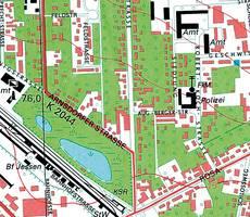 Historischer Topographischer Stadtplan 1:10 000