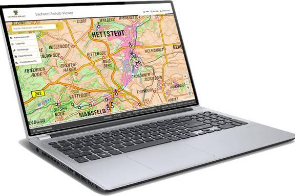 Bildschirmansicht des Sachsen-Anhalt-Viewers