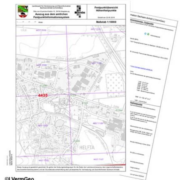 Geodatendienst Festpunkte Festpunktübersicht