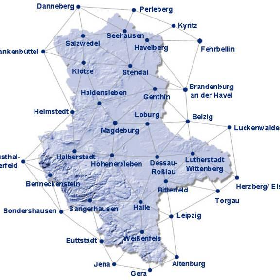 Vernetzung der SAPOS-Referenzstationen für HEPS