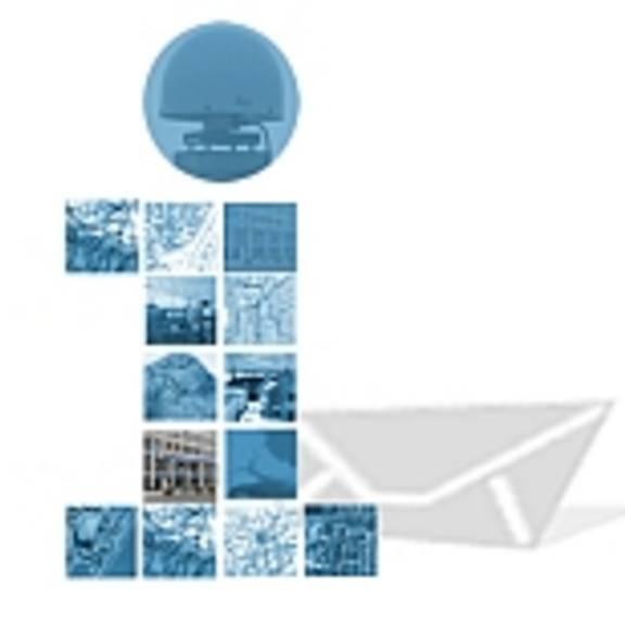 """Logo des Infobriefes als Kleinbuchstabe """"i"""" mit Briefumschlag"""