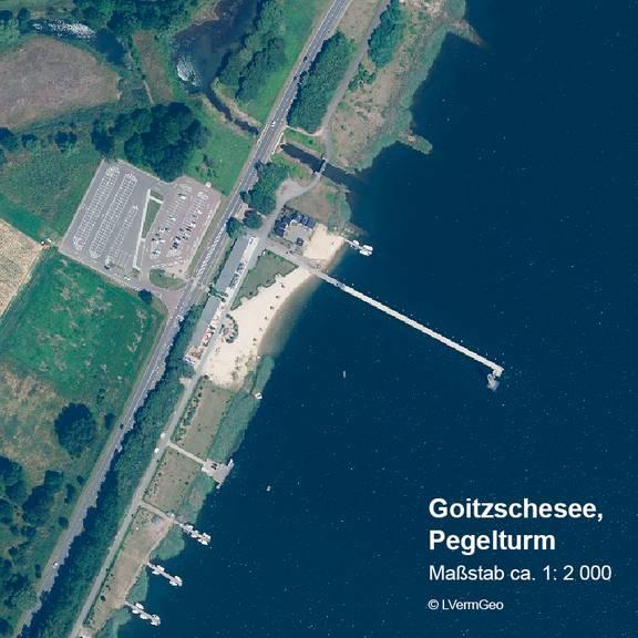 DOP20 Goitzschesee, Pegelturm
