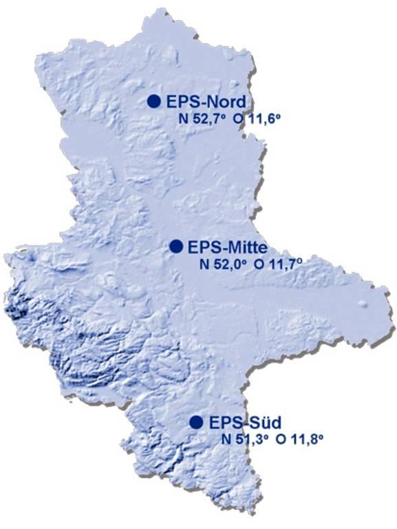 SAPOS-Einwahlpunkte (Mountpoints) für EPS