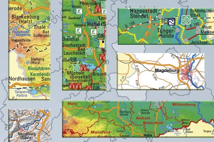 Ausgabevarianten der Kartographischen Präsentation des Landes