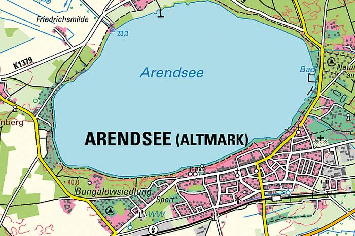 Kartenausschnitt der DTK50 L3134 Arendsee